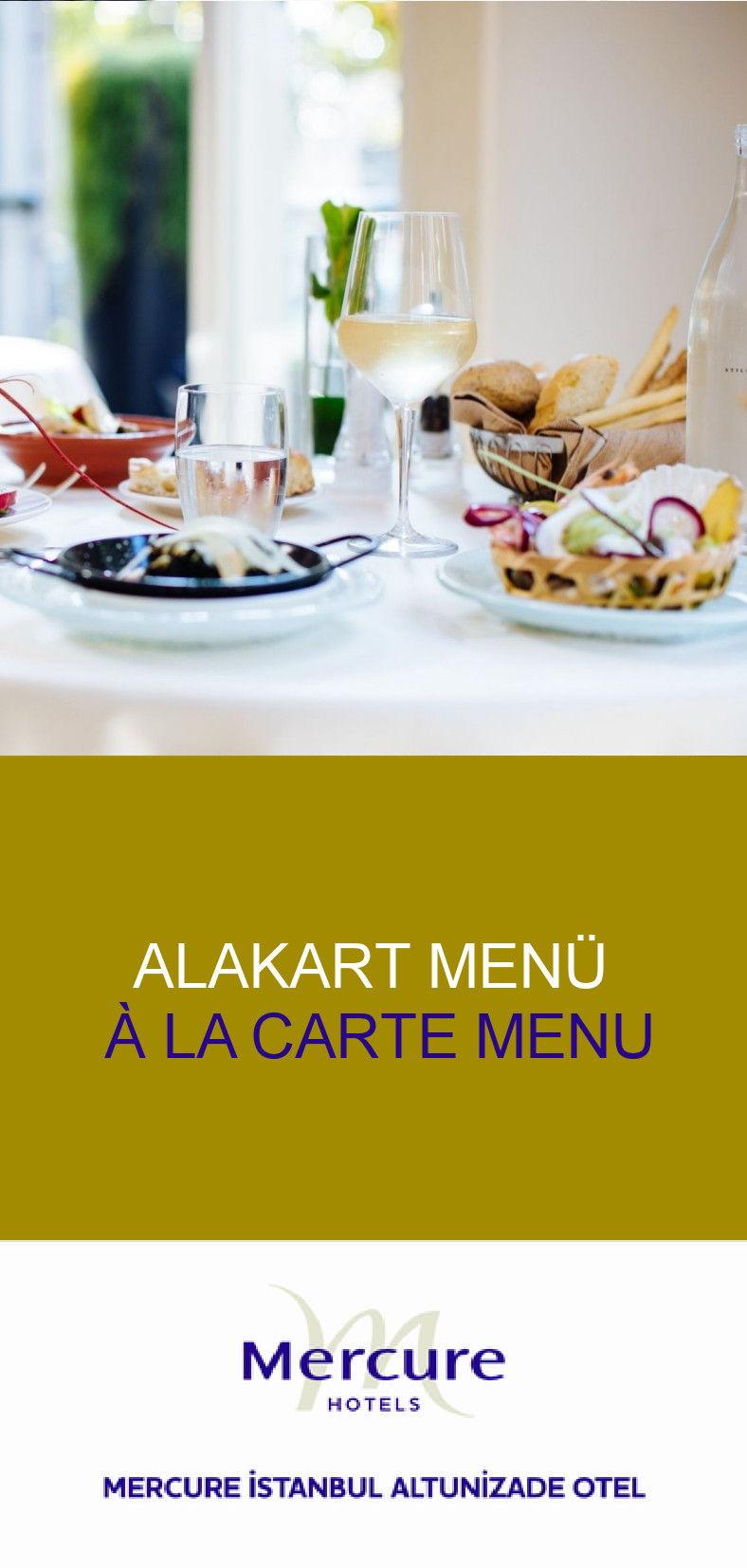 A'la carte menu
